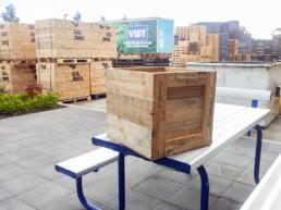 open wooden case