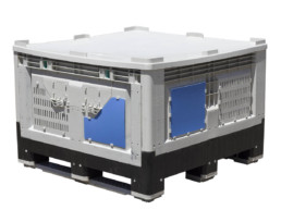 plastic crate with lid