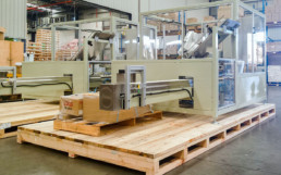 wooden boxes for machinery