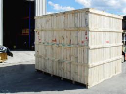 large wooden box machinery