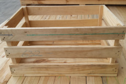 medium wooden crate