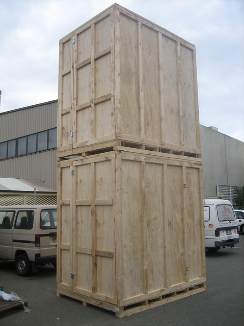 QLD stackable timber storage units