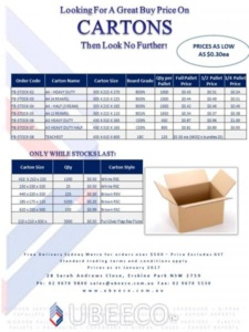 in stock cartons specials