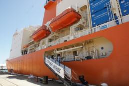 Japanese Shirase icebreaker in Fremantle