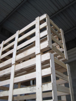 wooden crates at our Sydney facility
