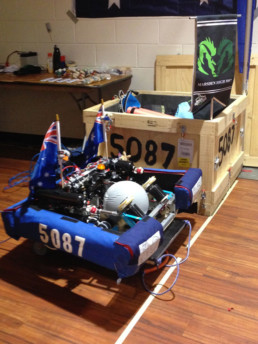 the robot from Marsden High unpacked
