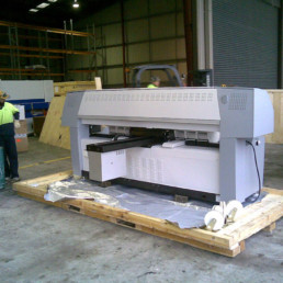 Machinery packing on-site