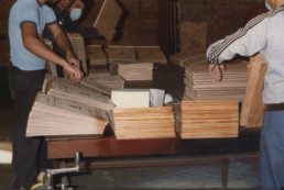 Manufacturing boxes during UBEECO's early days