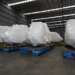 Static Intercept shrink film for exporting large machinery